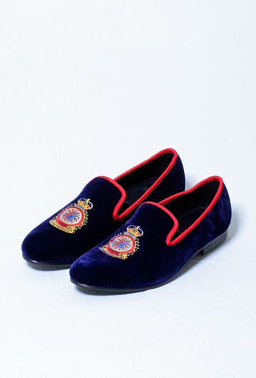 47c22cc71661f PEACOCKED MEN'S EMBROIDERED VELVET LOAFERS (BLUE)